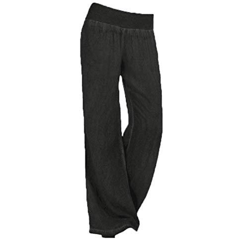 Pantalones Pantalón Cintura Para Mujer Alta Ropa Schwarz Talla Grande Vaqueros Adelina Pierna Ancha Ocasional Palazzo Elástico De YSzwS4dnq