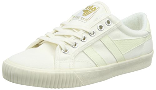 Gola Women's Tennis Mark Cox Sneaker,Off White/Off White Canvas,US 8 M