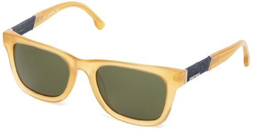 Diesel Plastic Sunglasses - Diesel DL00505239N Wayfarer Sunglasses,Yellow,52 mm