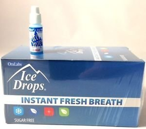Oralabs Ice Drops Instant Fresh Breath Icy Mint Whole Box of (Fresh Breath Drops)