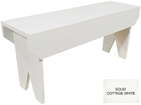 Pleasant Wooden Bench 3Ft Long Solid Cottage White Ibusinesslaw Wood Chair Design Ideas Ibusinesslaworg