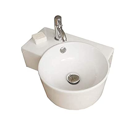Cloakroom Basin Wall Mounted Hung Bathroom Sink Small Modern