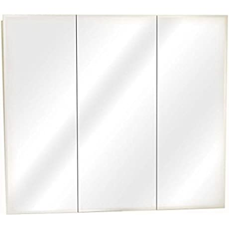 Zenith Products M48 Beveled Tri View Medicine Cabinet