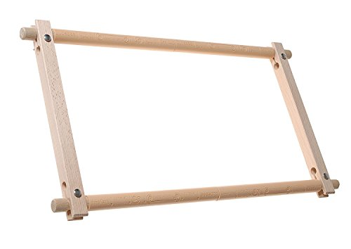 Elbesee No Sew Easy Clip Hand Rotating Frame, Wood, 24 x 12-Inch by Elbesee by Elbesee