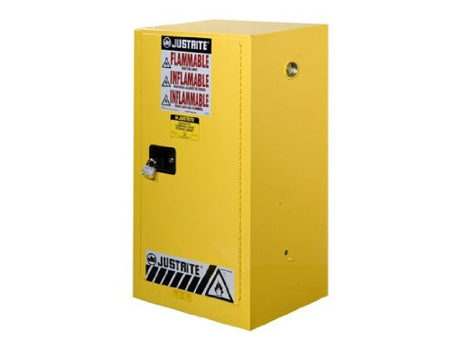 Justrite 891500 Flammable Safety Cabinet, 15 gal, Yellow