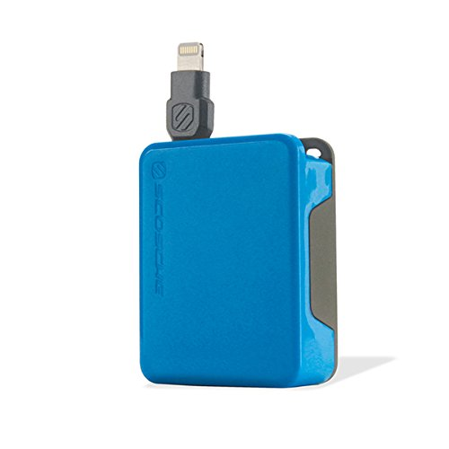 (Scosche boltBOX Retractable Charge & Sync Cable for Lightning Devices - Blue )