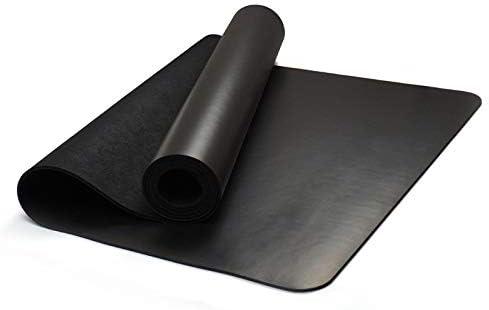 Eco friendly 5 mm厚PU天然ゴムヨガマット、ノンスリップ、吸湿性、PVCの自由かつヨガやピラティスのすべてのタイプに適した他の有害な化学物質、 exercise (色 : Black)