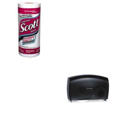 KITKIM09551KIM41482 - Value Kit - KIMBERLY CLARK IN-SIGHT JRT Combo Tissue Dispenser (KIM09551) and SCOTT 41482 Kitchen Roll Paper Towels (KIM41482)