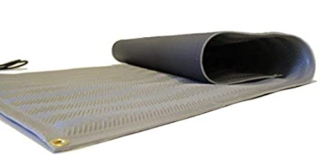 RHS Heated Mat, Snow Melting Mat, Non-Slip Herringbone Design,, Color Gray, Outdoor Mat, Melts up to 2' inches of Snow Per Hour (30' in x 3'ft)