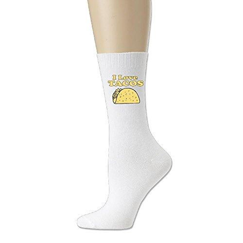 Mokjeiij I Love Tacos Comfortable And Breathable Cotton Socks]()