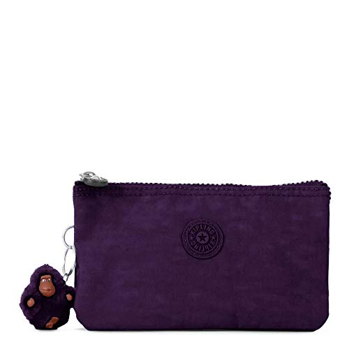 Kipling Creativity Large, Multi Compartment Pouch with Zip Closure, Deep Purple