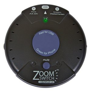 ZoomSwitch ZMS20-UC Headset Adapter for Phone and PC with Vol. and Mute - (Zoomswitch Phone)