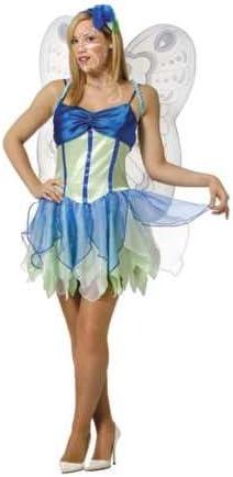 Disfraz NINFA Azul Adulta T. 48: Amazon.es: Ropa y accesorios