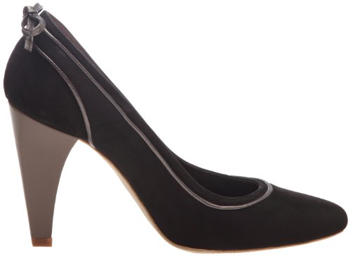 noir gris plomb Donna Tacco Smokey Arabian Scarpe Nero Con Karine O80H44