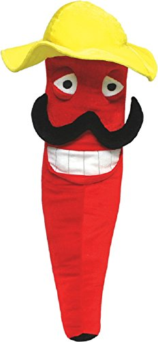 National Prize & Toys Plush Red Senór Chili Pepper with Mustache in Sombrero Large 27 inches Tall (Plush Pepper)