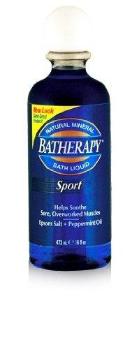 Queen Helene Sport Batherapy Mineral Bath Liquid, 16 oz Batherapy Liquid Natural Mineral Bath