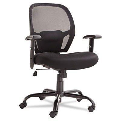 Alera Merix450 Series Mesh Big/Tall Mid-Back Swivel/Tilt Chair, Black