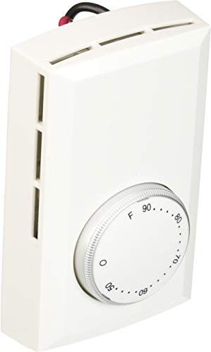 Cadet T522-W Bimetal DP Thermostat White 22A ()
