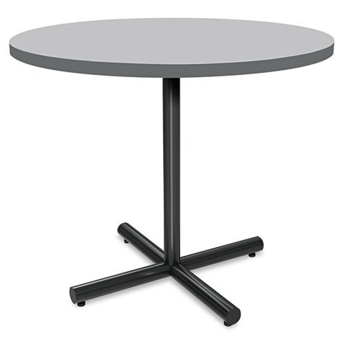 HON Round Table Top, 42-Inch, Steel Mesh/Charcoal