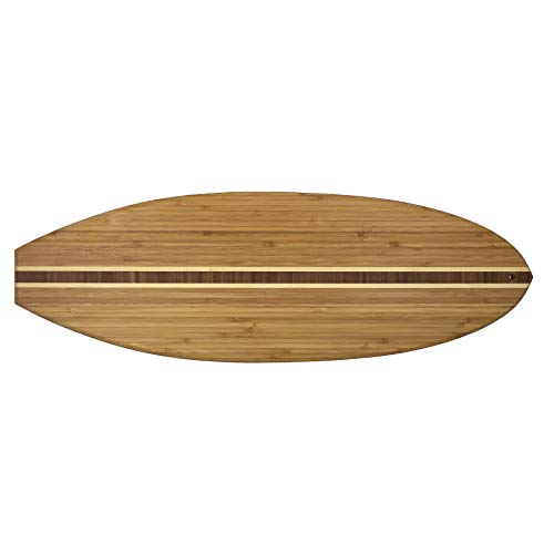 (Totally Bamboo 20-7635 surfboard cutting board, 23-inch x 7.5-inch)