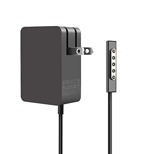 AC Adapter 24W 12V 2A for Microsoft Surface RT Surface Pro 1 and Surface Pro 2 1512 Charger (BLACK-02)