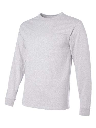 - Jerzees Men's Heavyweight Blend 50/50 Long Sleeve T-Shirt (Ash, Large)