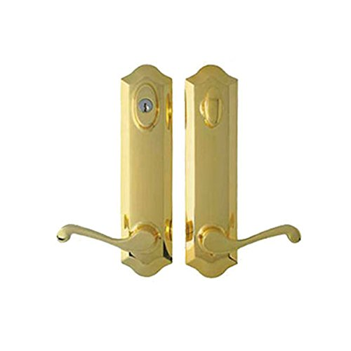 Peachtree Prado Brass Hardware for French and Hinged Swinger Patio Doors (French Door Sets)