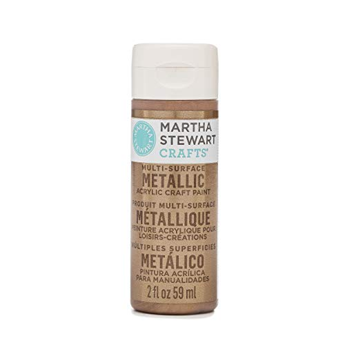 (Martha Stewart Crafts Multi-Surface Metallic Acrylic Craft Paint in Assorted Colors (2-Ounce), 33002 Rose Copper)