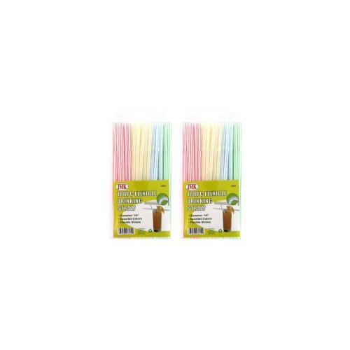Flexible & Disposable Drinking Straws - 360 Individual (Drinking Straws)