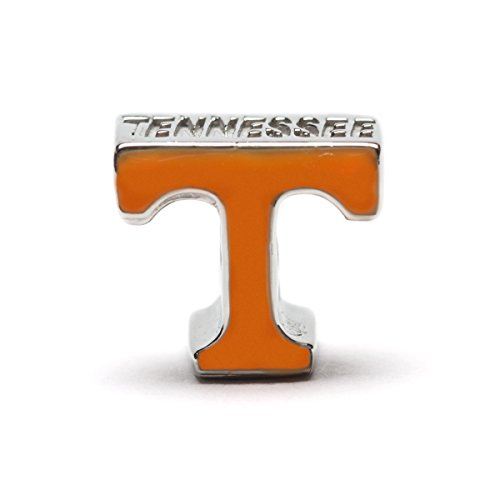 (University of Tennessee Bead Charm | Tennessee Stainless Steel Orange