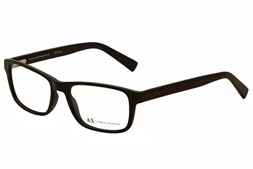 A|X Armani Exchange AX3021 Eyeglass Frames 8078-54 - Matte Black AX3021-8078-54