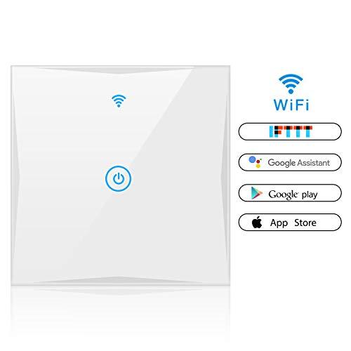 Smart Light Switch, Wall Wireless Tempered Glass...