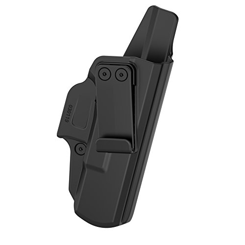 TEGE Glock 19 Waistband Holster, Polymer Belt Holster for Concealed Carry, Also Fits Glock 23 Glock 32, Right Hand, Black (IWB Holster)