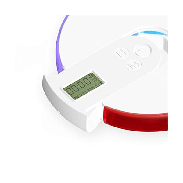 NICEXMAS - Pastillero digital portátil con indicador de fecha de alarma, pastillero inteligente con recordatorio 6