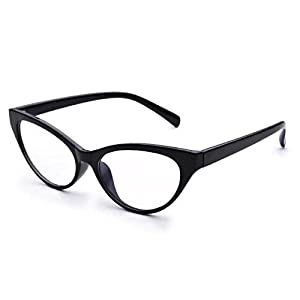 Jcerki Black Avant+garde Cat Eye Women Reading Glasses +0.50 strength Women Fashion Readers EyeGlasses