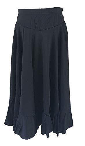 La Señorita Spanish Flamenco Skirt Children Black 2 Volants (Size 14-10/11 Years) (Spanish Dance Flamenco)