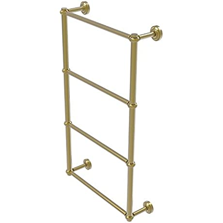 Allied Brass DT 28T 24 Sbr Dottingham Collection 4 Tier 24 Inch Ladder Towel Bar With Twisted Detail