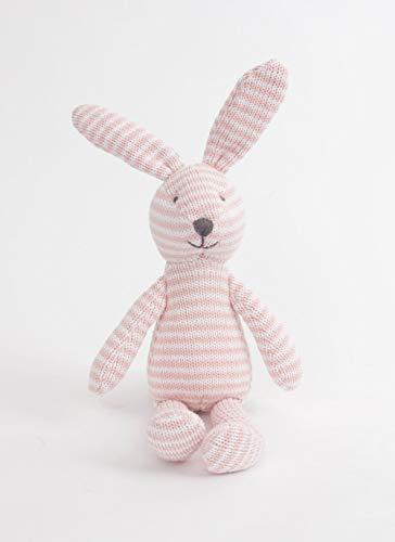 MON AMI Pink & White Striped Plush Bunny, Multicolor, -