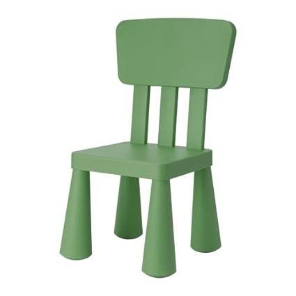 IKEA MAMMUT - Silla para niños, color verde: Amazon.es: Bebé