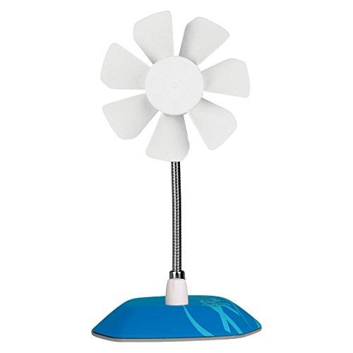 ARCTIC Breeze - USB Desktop Fan with Flexible Neck and Adjustable Fan Speed I Portable Desk Fan for Home, Office I Silent USB Fan I Fan Speed 800-1800 RPM - Blue