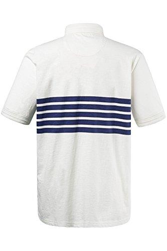 JP 1880 Herren groe Gren Poloshirt offwhite 5XL 702573 21-5XL