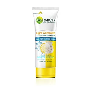 Garnier Bright Complete BRIGHTENING DUO ACTION Face Wash, 100g
