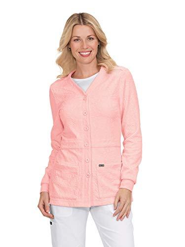 koi 440 Women's Claire Knit Scrub Jacket Blush M
