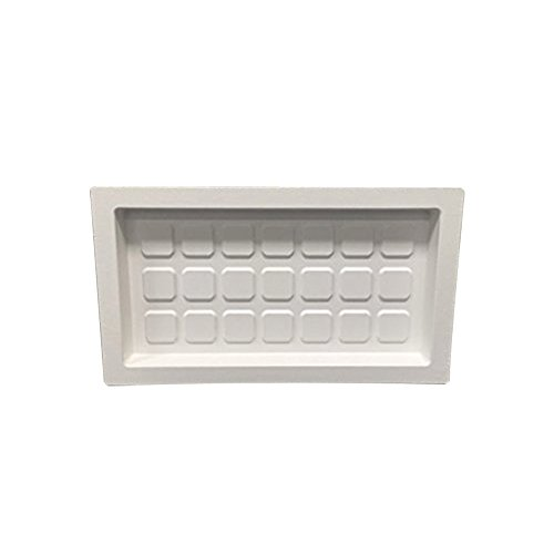 Crawl Space Recessed Foundation Vent Cover - White (For 8