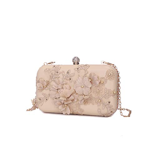 er Clutches Evening Bags Handbags Wedding Clutch Purse(champagne color) ()