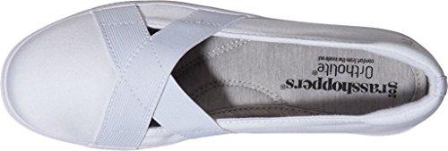 Sprinkhanen Damesjuni Mj Mode Sneaker Witte Stretch Twill