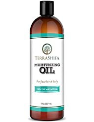 Pure Moisturizing Oil with Coconut, Olive, Almond & Lavender Oil | 100% Natural Daily Face, Hair and Body Oil | Perfect for All Skin Types, Men and Women, 8 oz.