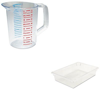 KITRCP3216CLERCP3308CLE - Value Kit - Rubbermaid-Clear Food Boxes; 8 1/2 Gallon (RCP3308CLE) and Rubbermaid-Clear Bouncer Measuring Cups 1 Quart (RCP3216CLE)