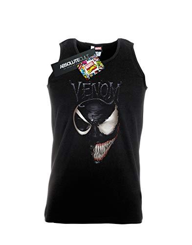 Man Marvel Split Face Nero Tank Top Venom 7wwcRB6rqd