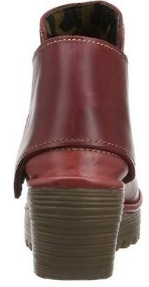 Fly London Yogi Cordoba Rosso Pelle Donna Ankle Wedge Scarpe Stivali